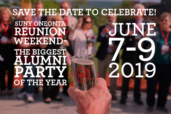 Save the Date. Reunion Weekend 2019. June 7-9.