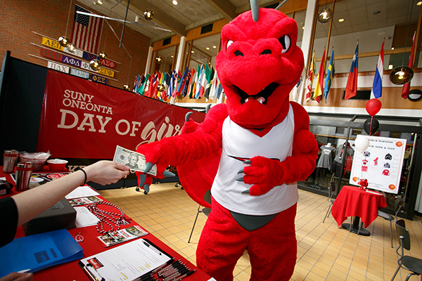 Red the Dragon on Day of Giving 2018