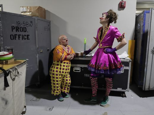 Photo: Backstage at the circus