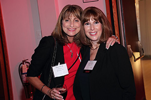 Stephanie Brenner '81 with Alumni of Distinction  honoree Susan Weiner '81