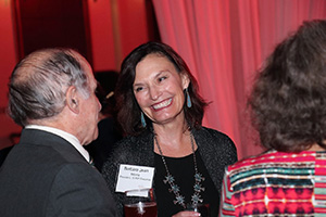 SUNY Oneonta President, Dr. Barbara Jean Morris  greets alumni at the reception.
