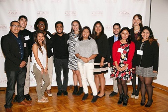 A group of scholarship recipients.